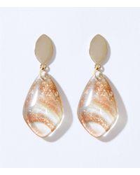 LOFT Glitter Drop Earrings - Metallic