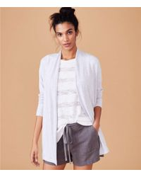 LOFT - Lou & Grey Signaturesoft Open Cardigan - Lyst