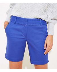LOFT Riviera Shorts With 8 Inch Inseam - Blue