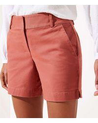 LOFT Curvy Riviera Shorts With 6 Inch Inseam - Multicolour