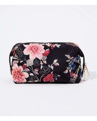 LOFT Floral Makeup Case - Black