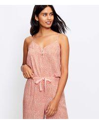 LOFT Cheetah Print Pyjama Cami - Pink