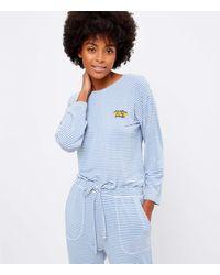 LOFT Sunshine On My Mind Striped Pyjama Top - Blue