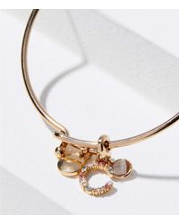 LOFT - Initial Charm Bangle Bracelet - Lyst
