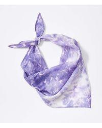 LOFT Tie Dye Triangle Bandana - Purple