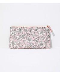 LOFT Floral Sunglasses Case - Pink