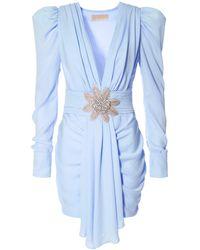 AGGI Krystle Blue Fog Dress