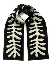 INGMARSON Organic Shape Wool & Cashmere Scarf - Black