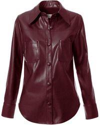 AGGI Tara Malaga Wine Shirt - Red