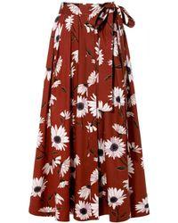 AGGI Gabriella Henna Skirt - Red