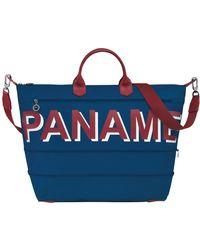 Longchamp Sac de voyage M Paname - Bleu