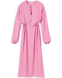 Longchamp Robe longue Collection Automne-Hiver 2021 - Rose