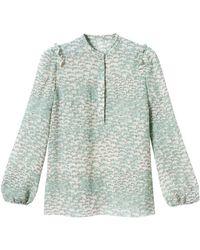 Longchamp Blouse Collection Automne-Hiver 2021 - Vert