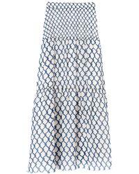 Longchamp Jupe longue Collection Printemps/Été 2021 - Bleu