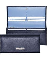 Longchamp Portefeuille long Roseau - Bleu