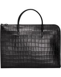 Longchamp Porte-documents S Croco Block - Noir