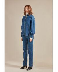 Longchamp Chemise Collection Automne-Hiver 2021 - Bleu