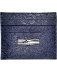 Longchamp Porte-cartes Roseau - Bleu
