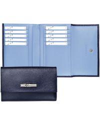 Longchamp Portefeuille compact Roseau - Bleu