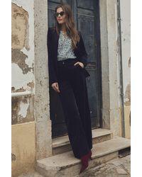 Long Tall Sally Tall Smart Cord Wide Leg Trouser - Blue