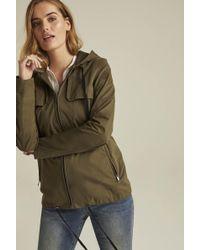 Long Tall Sally Tall Hooded Utility Jacket - Green