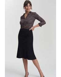 Long Tall Sally Tall Mix And Match Flippy Suit Skirt - Black