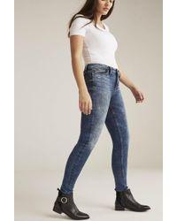 Silver Jeans Co. Tall Silver Robson Skinny Jean In Mid Denim - Blue