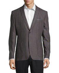 Tallia Orange - Chequered Linen Jacket - Lyst
