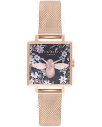 Olivia Burton - Bejewelled Florals Stainless Steel Bracelet Watch - Lyst