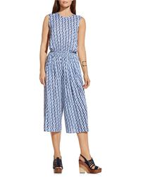 Two By Vince Camuto Feathery Trail Culottes Jumpsuit - Blue