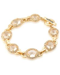 Carolee - Columbus Circle Brass Flex Bracelet - Lyst