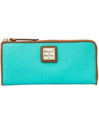 Dooney & Bourke - Leather Zip Clutch Wallet - Lyst