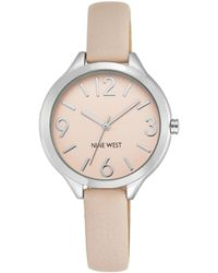 Nine West Round Dial Watch With Strap - Pink