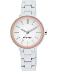 Nine West Rubber Strap Bracelet Watch - White