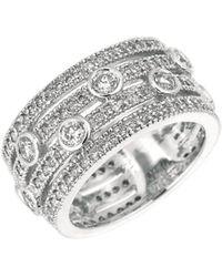 Morris & David Diamond 14k White Gold Layered Band Ring, 1.81 Tcw