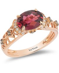 Le Vian - Diamond And Rhodolite Chocolatier Ring,0.14tcw - Lyst