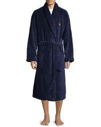 Polo Ralph Lauren Plush Microfiber Robe - Blue