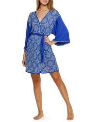Bollydoll Hypnotizing Hues Kimono Robe - Blue