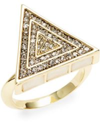 House of Harlow 1960 - Mother-of-pearl Triage Cocktail Ring - Lyst