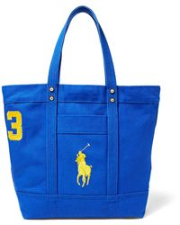 Polo Ralph Lauren | Big Pony Canvas Tote | Lyst