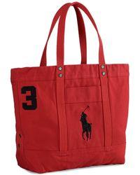 Polo Ralph Lauren | Big Pony Canvas Tote | Lyst