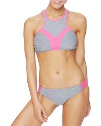 Oakley - Heathered Racerback Bikini Top - Lyst