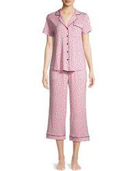 Kate Spade Floral Short-sleeve Pj Set - Pink