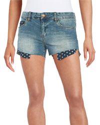 Sl8 Star Pocket Jean Shorts - Green