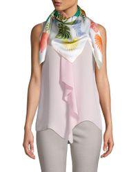 Echo Tropical Silk Scarf - Pink