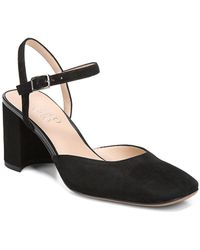 Franco Sarto - Lavita Suede Ankle-strap Court Shoes - Lyst