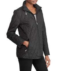 Lauren by Ralph Lauren - Lightweight Quilted Coat - Lyst