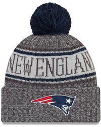KTZ - Nfl Sideline New England Patriots Cold Weather Sport Knit Hat - Lyst 5d98c64ca