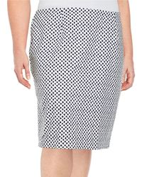Lord + Taylor Plus Dotted Pencil Skirt - Blue