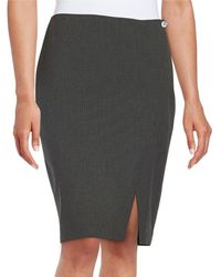 Marc New York   Pinstriped Pencil Skirt   Lyst